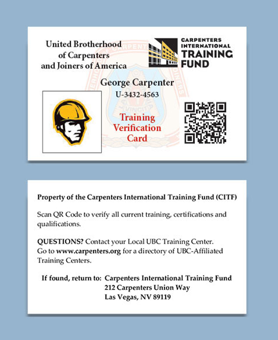 Training Verification Cards