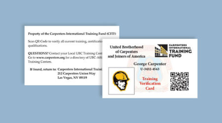 Training Verification cards TVC